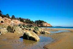 海滩唱歌 免版税图库摄影