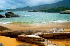 海滩国家公园tayrona 免版税库存图片