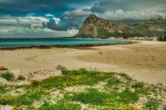 海滩圣维托洛卡波 图库摄影