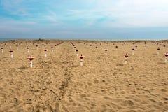海滩在冬天-考尔莱威尼斯意大利 库存照片