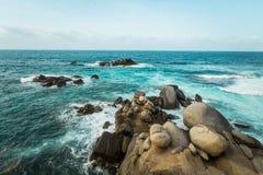 海滩在哥伦比亚, Caribe 免版税库存图片