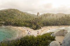 海滩在哥伦比亚, Caribe 库存照片