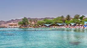 海滩在埃拉特,以色列 免版税库存照片