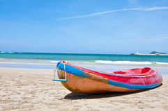 海滩在夏日 免版税库存图片