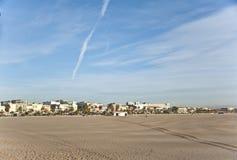 海滩在巴伦西亚。 免版税图库摄影