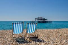 海滩在布赖顿英国 库存照片