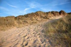 海滩在布里坦尼 免版税库存照片
