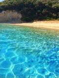 海滩在希腊 免版税图库摄影