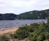 海滩在挪威 免版税库存图片