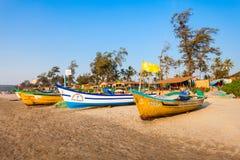 海滩在果阿,印度 库存图片