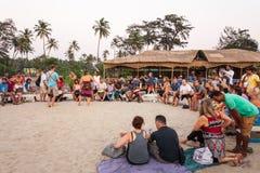 海滩在果阿,印度 库存照片