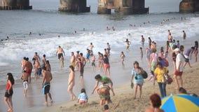 海滩在比尼亚德尔马 股票视频