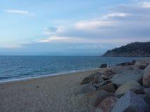海滩在澳洲 库存图片