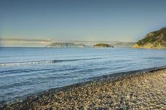海滩在爱奥尼亚海 免版税图库摄影
