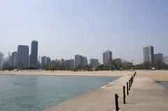 海滩在芝加哥 库存图片