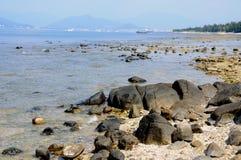 海滩在萨尼亚 库存照片