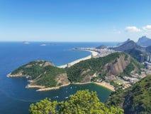 海滩在里约热内卢,巴西 库存照片