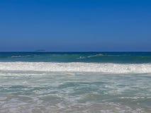 海滩在里约热内卢,巴西 免版税库存图片