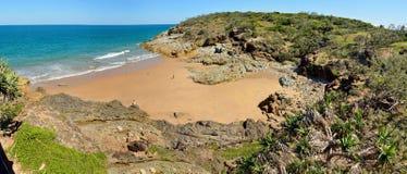 海滩在镇1770,澳大利亚 免版税图库摄影