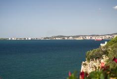 海滩在阿尔巴尼亚是真正地好的 图库摄影