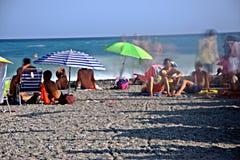 海滩在Almuñecar 6 免版税库存照片