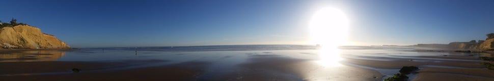海滩在Conil,卡迪士 西班牙 免版税库存图片