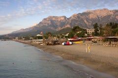 海滩在Goynuk 免版税图库摄影