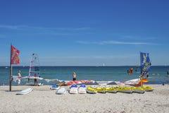 海滩在Grömitz 免版税库存图片