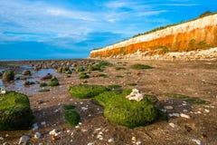 海滩在Hunstanton,诺福克,英国 免版税库存图片