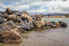海滩在Kissamos 图库摄影