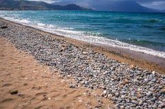 海滩在Kissamos 库存图片