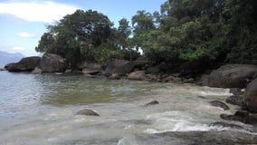 海滩在Paraty里约热内卢 免版税库存照片