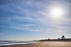 海滩在Pirambu塞尔西培州  库存照片