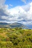 海滩在polis附近的塞浦路斯latchi 免版税库存照片
