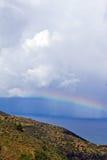 海滩在polis附近的塞浦路斯latchi 库存照片