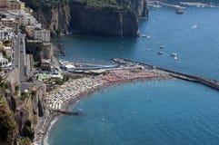 海滩在Sorento 免版税图库摄影