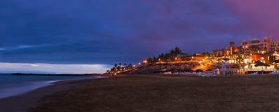 海滩在Tenerife海岛-金丝雀 库存图片