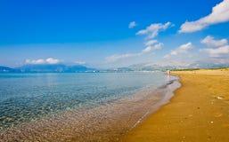 海滩在Zakynthos海岛,希腊。 库存图片