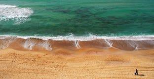 海滩地中海全景海运视图 图库摄影