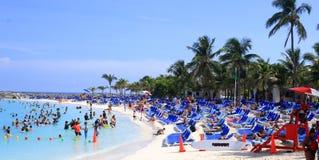 海滩场面,盛大马镫岩礁,巴哈马 库存照片