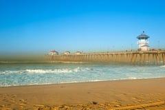 海滩场面 免版税库存照片
