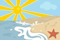 海滩场面 向量例证