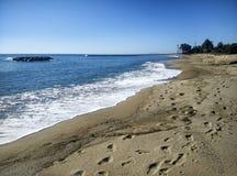 海滩坎布里尔斯,在西班牙 免版税库存照片