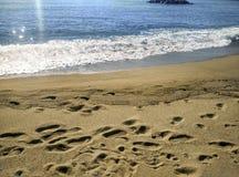 海滩坎布里尔斯,在西班牙 库存照片