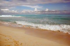 海滩坎昆墨西哥 库存照片