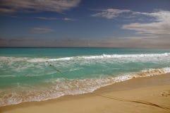 海滩坎昆墨西哥 免版税图库摄影
