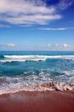 海滩坎昆墨西哥 库存图片