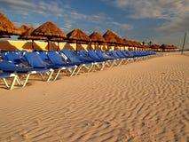 海滩坎昆手段 免版税库存图片
