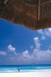 海滩坎昆 图库摄影