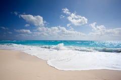 海滩坎昆 库存照片